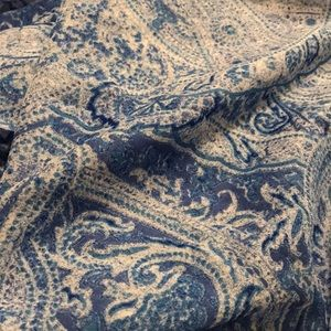 H&M Accessories - H&M Blue Paisley Infinity Scarf